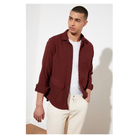 Trendyol Tile Men's Relax Fit Symmetrical Double Bottom Pocket Long Sleeve Shirt