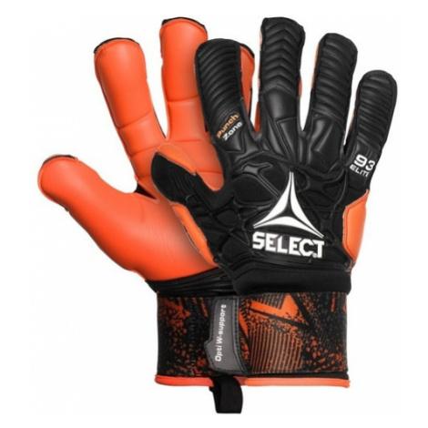 Brankárske rukavice Select GK gloves 93 Elite Hyla cut čierno oranžová