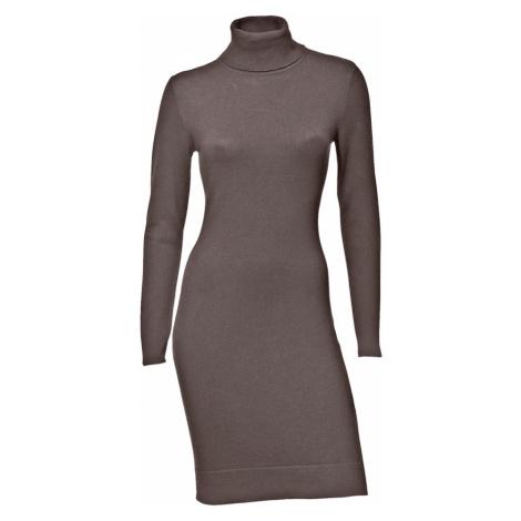 heine Pletené šaty  hnedá