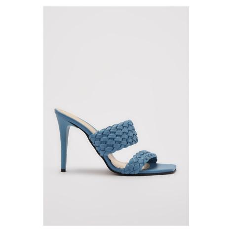 Trendyol Blue Knit Detailed Women's Slippers