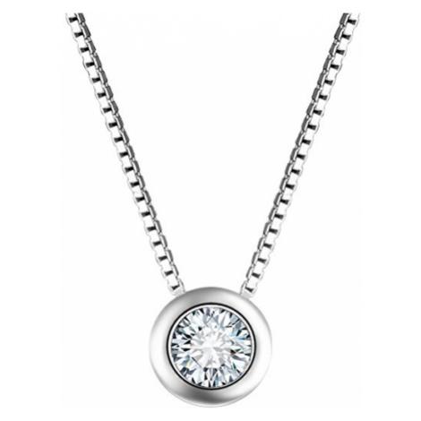 Beneto Strieborný náhrdelník so zirkónom AGS56 /