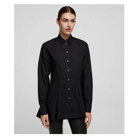 Košeľa Karl Lagerfeld Embroidered Peplum Tunic Shirt