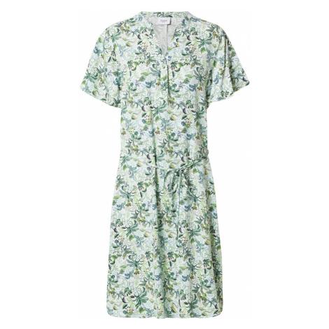 SAINT TROPEZ Košeľové šaty 'Galia'  mätová / zmiešané farby