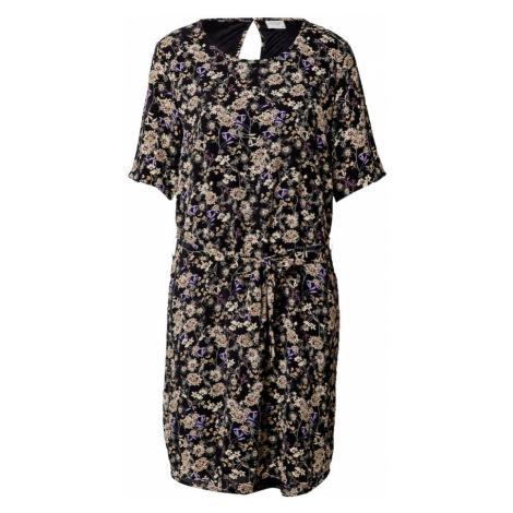 JDY Letné šaty 'Amanda'  čierna / fialová / béžová / ružová