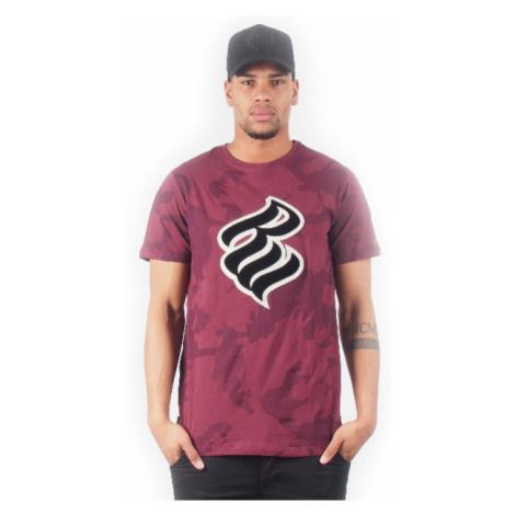 Pánské Tričko Rocawear Flame Logo Tee Burgundy Camo R1708T701-402C - Veľkosť:2XL