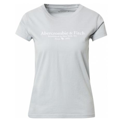Abercrombie & Fitch Tričko  azúrová / biela