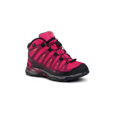 Salomon Trekingová obuv X-Ultra MId Gtx J GORE-TEX 398651 12 W0 Červená