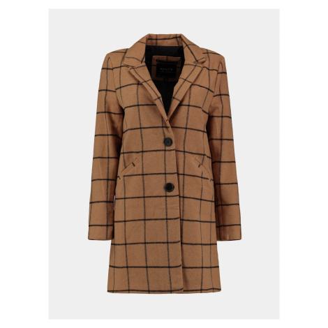 Hnedý kockovaný kabát Hailys Haily´s