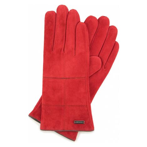 Červené semišové dámske rukavice Wittchen
