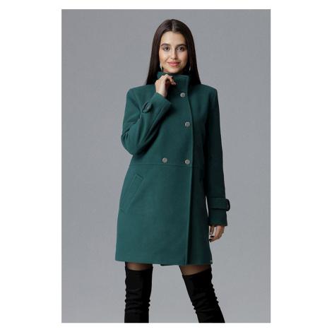 Tmavozelený kabát M623 Figl