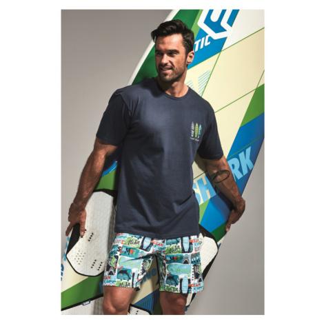 Pánske pyžamo Cornette 326 - barva:CORSURF/potláč