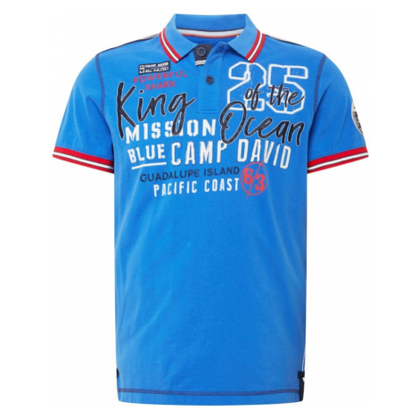CAMP DAVID Tričko  modrá