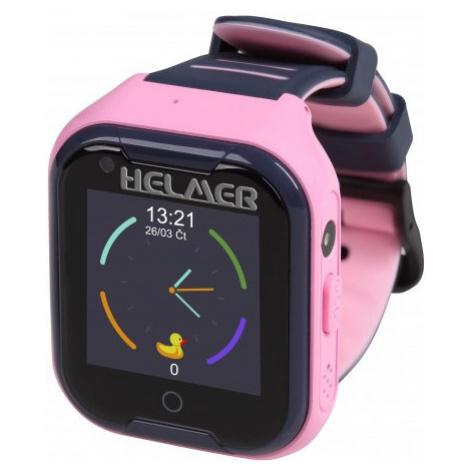 Helmer LK 4G růžové - dětské hodinky s GPS lokátorem, videohovorem, vodotěsné
