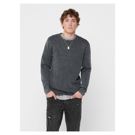 ONLY & SONS sivý pánsky sveter Garson