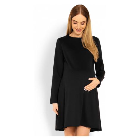 Čierne tehotenské šaty 1359C PeeKaBoo