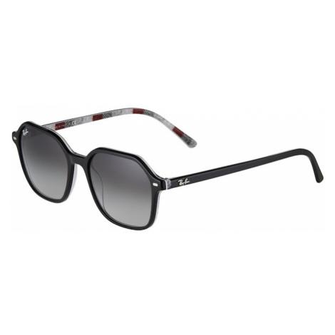 Ray-Ban Slnečné okuliare 'JOHN'  burgundská / čierna / sivá