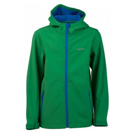 Lewro OFRA zelená - Detská softshellová bunda