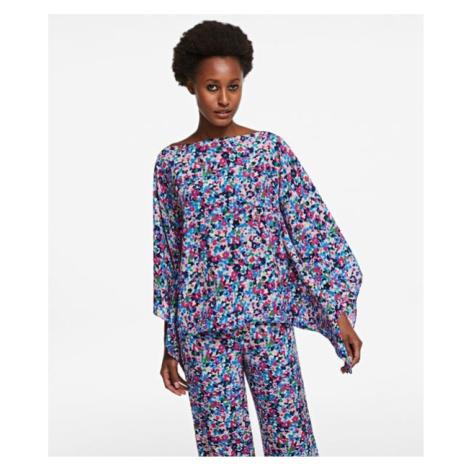 Košeľa Karl Lagerfeld Printed Silk Scarf Top
