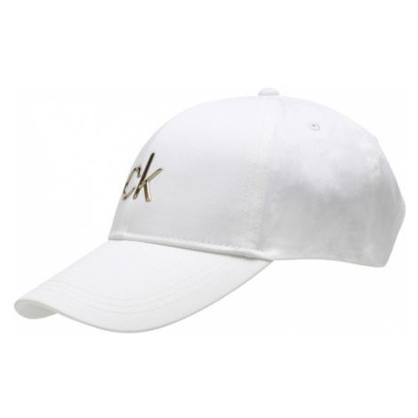 Calvin Klein Čiapka  biela / zlatá