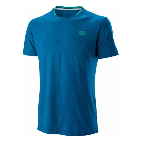 Pánske tričko Wilson Competition Flecked Crew Blue
