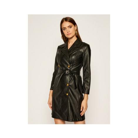 Pinko Šaty z imitácie kože Villano AI 20-21 BLK01 1G152F Y6BE Čierna Regular Fit