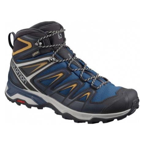 Salomon X ULTRA 3 MID GTX tmavo modrá - Pánska hikingová obuv