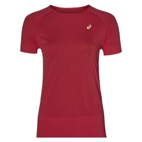 Asics SEAMLESS SS TEXTURE červená - Dámske bežecké tričko