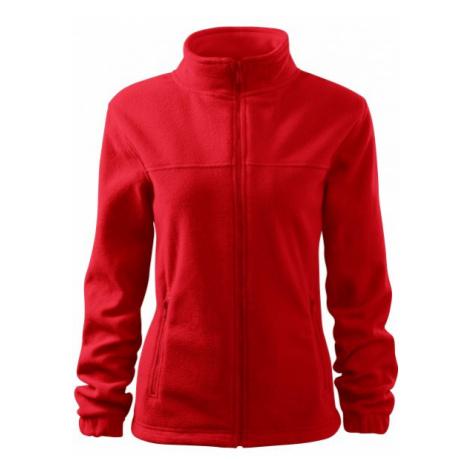 Dámska bunda fleecová, červená