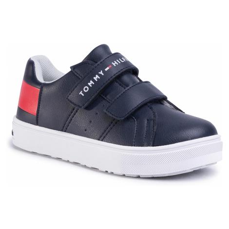 Sneakersy TOMMY HILFIGER - Low Cut Velcro Sneaker T3B4-30719-0193 M Blue/White/Red Y004