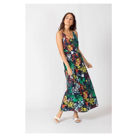 SKFK farebné maxi šaty Noelia