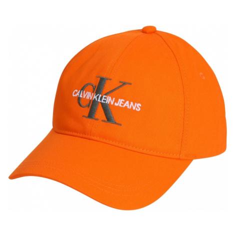 Calvin Klein Jeans Čiapka  oranžová / antracitová / biela