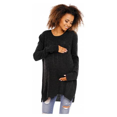Tmavosivý tehotenský pulóver 70007C PeeKaBoo