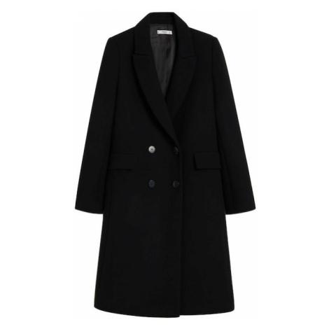 MANGO Prechodný kabát  čierna