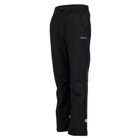 Lewro CARNO čierna - Detské softshellové nohavice