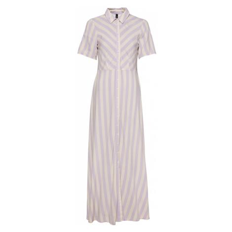 Y.A.S Košeľové šaty 'SAVANNA'  krémová / svetlofialová