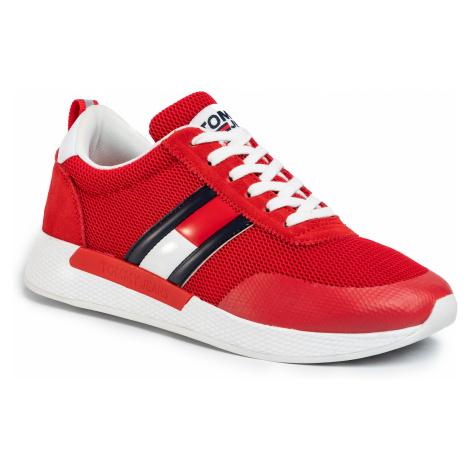 Sneakersy TOMMY JEANS - Flexi Tommy Jeans Flag Sneaker EM0EM00400 Deep Crimson  XNL Tommy Hilfiger