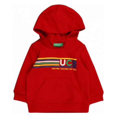 UNITED COLORS OF BENETTON Mikina  červená / žltá / modrá / biela / nefritová