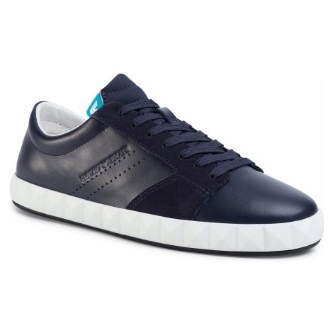 Sneakersy EMPORIO ARMANI - X4X254 XL694 D789 Night/Navy/Night/Blue