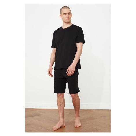 Trendyol Black Knitted Pyjama Set