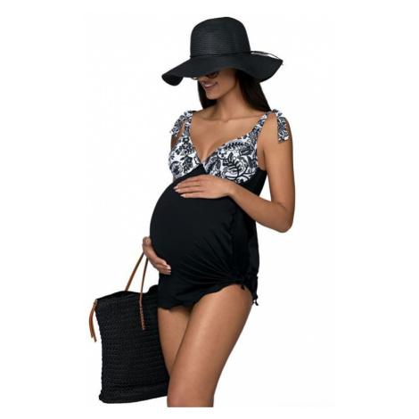 čierne tehotenské plavky