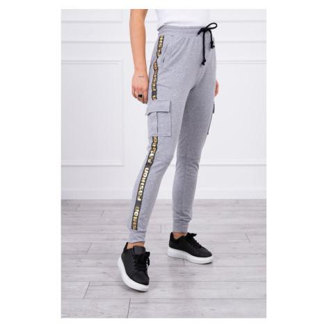 Pants cargo gray