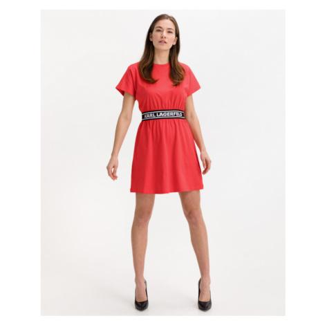 Karl Lagerfeld Šaty Červená Ružová