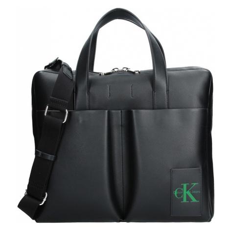Pánska taška cez rameno Calvin Klein Satchel - čierna