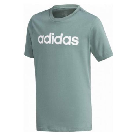 adidas YB E LIN TEE zelená - Chlapčenské tričko