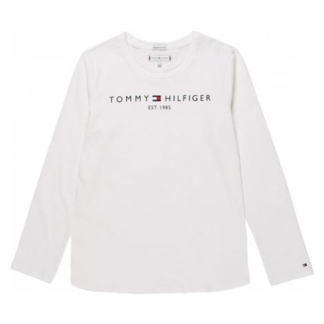 TOMMY HILFIGER Tričko  biela / námornícka modrá / ohnivo červená