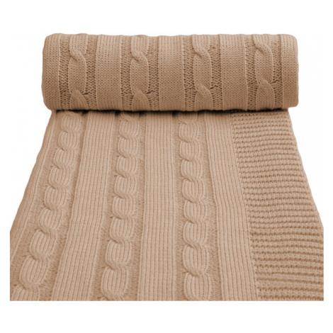 T-TOMI Deka pletená, béžová