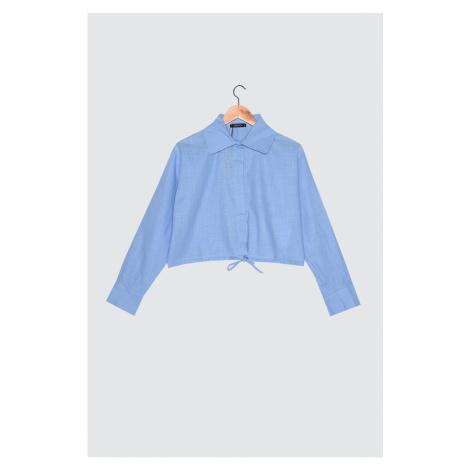 Trendyol Blue Lace Shirt