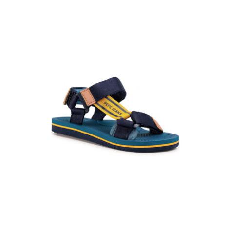 Pepe Jeans Sandále Pool Basic PBS90040 Tmavomodrá