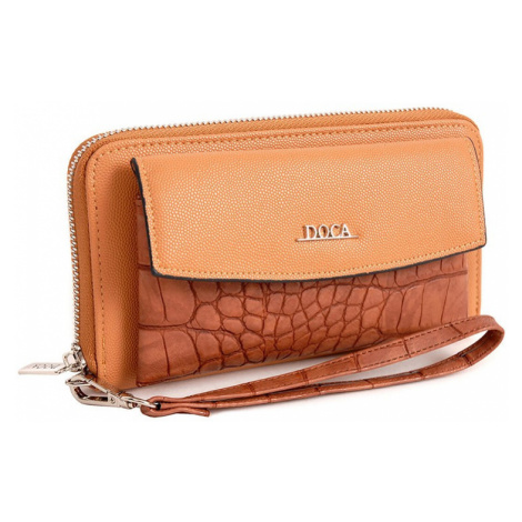 Dámska peňaženka Doca 65031 - svetlo hnedá
