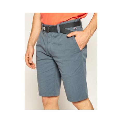 Tommy Jeans Bavlnené šortky Vintage DM0DM07932 Sivá Regular Fit Tommy Hilfiger